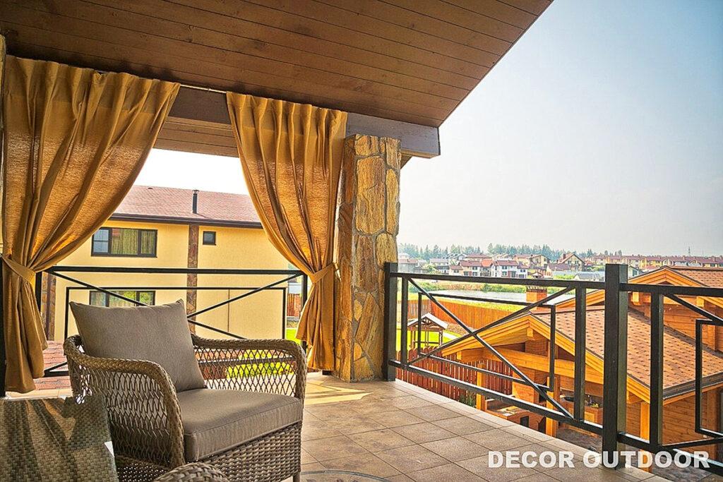 Уличные шторы для балкона